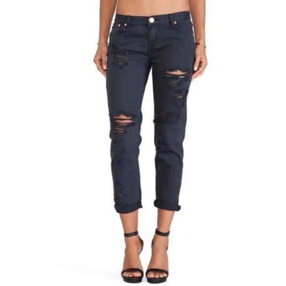 One Teaspoon Awesome Baggies Black Jeans